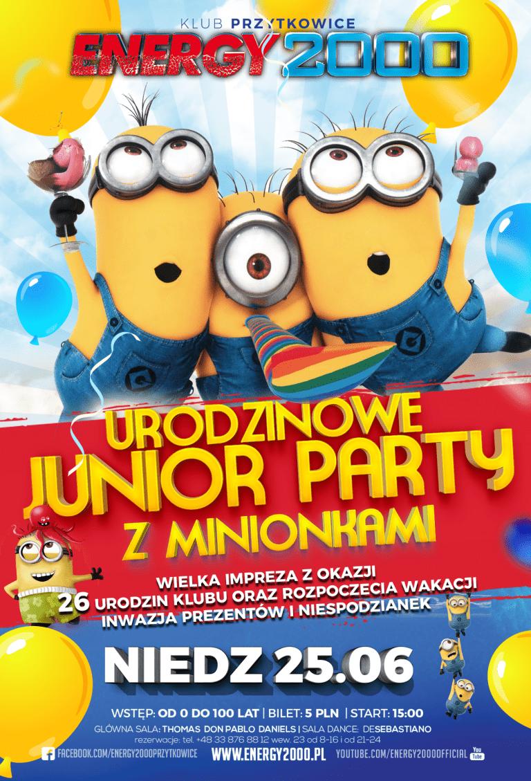 JUNIOR PARTY Z MINIONKAMI – Edycja Urodzinowa