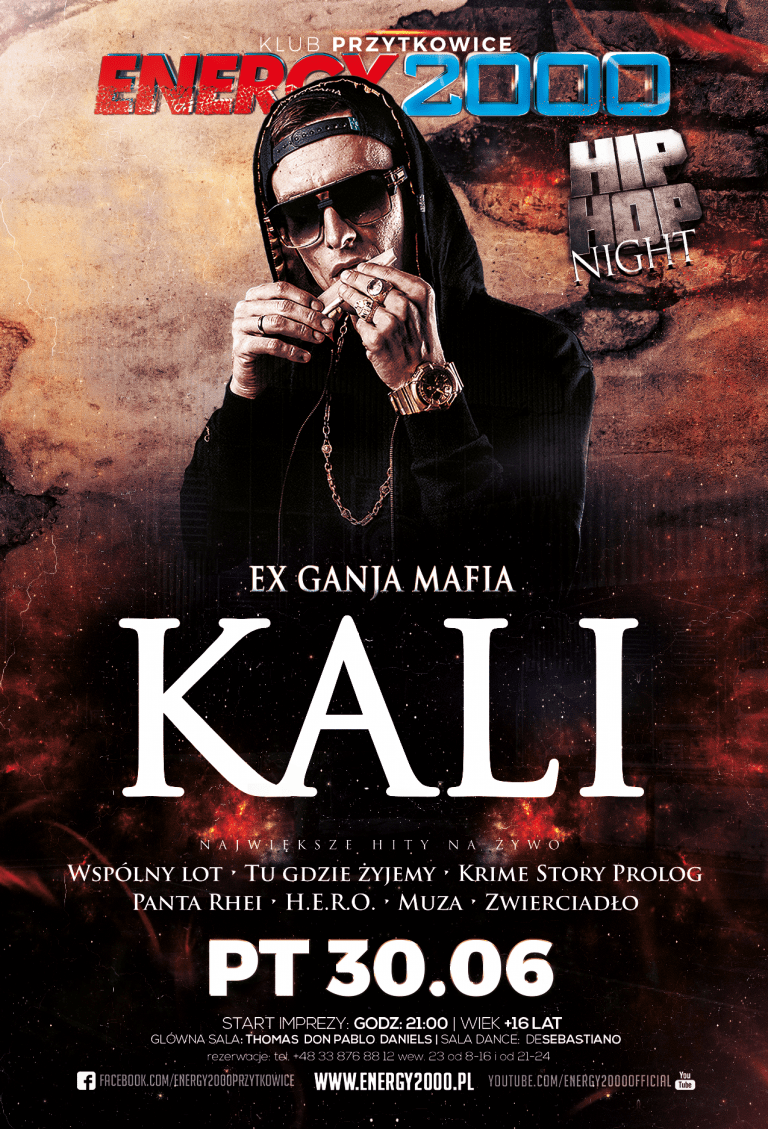 KALI – Live On Stage. Hip- Hop Night