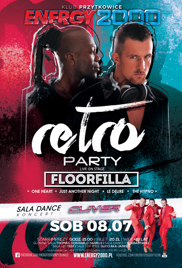 RETRO PARTY pres. FLOORFILLA & koncert CLIVER(sala dance)