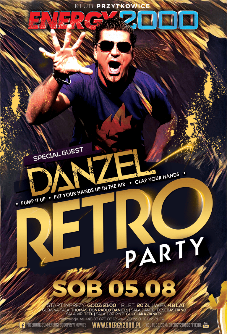 RETRO PARTY pres. DANZEL Sala Dance koncert: MARKUS P