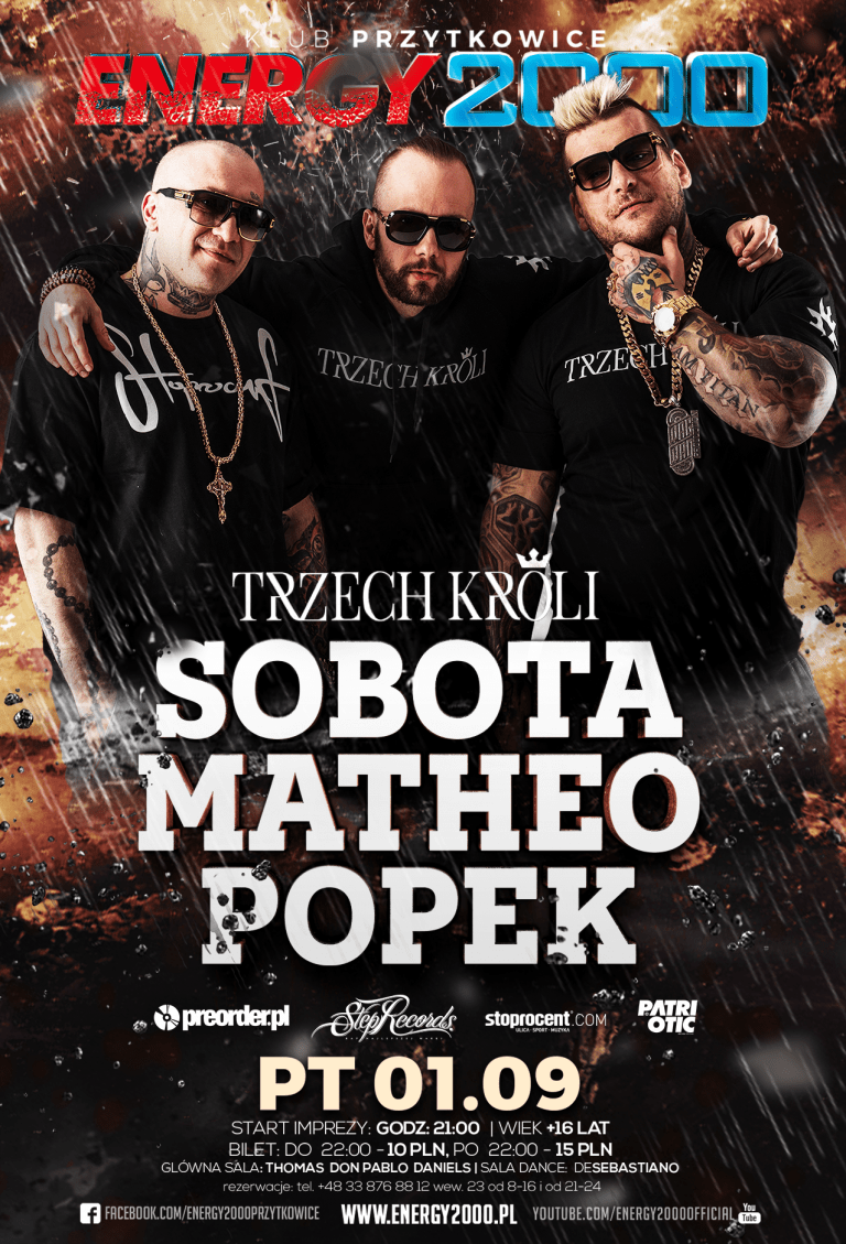 TRZECH KRÓLI – POPEK SOBOTA MATHEO – Live On Stage