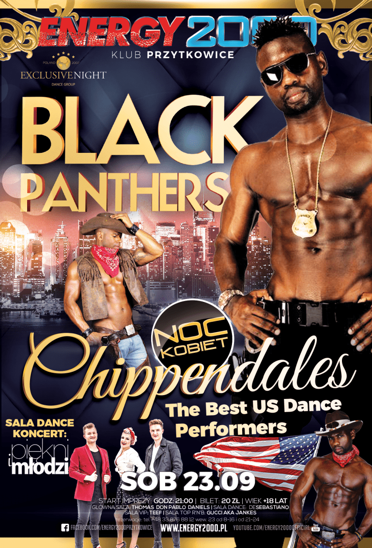 BLACK PANTHERS-Chippendales z USA. Piękni i Młodzi – Sala Dance