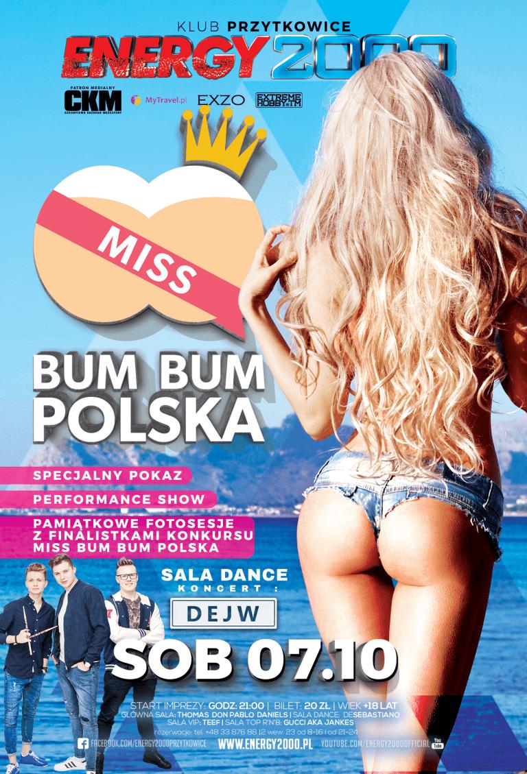MISS BUM BUM Polska. Sala Dance DEJW koncert