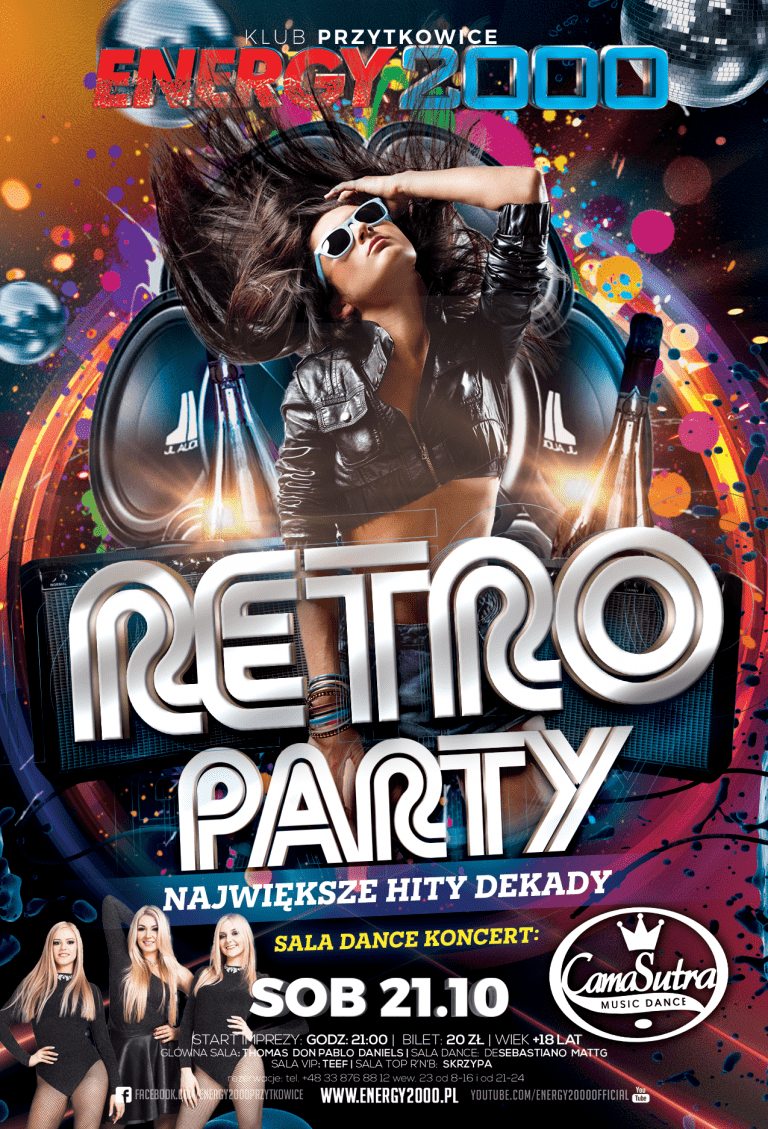RETRO PARTY – Sala Dance CamaSutra – koncert