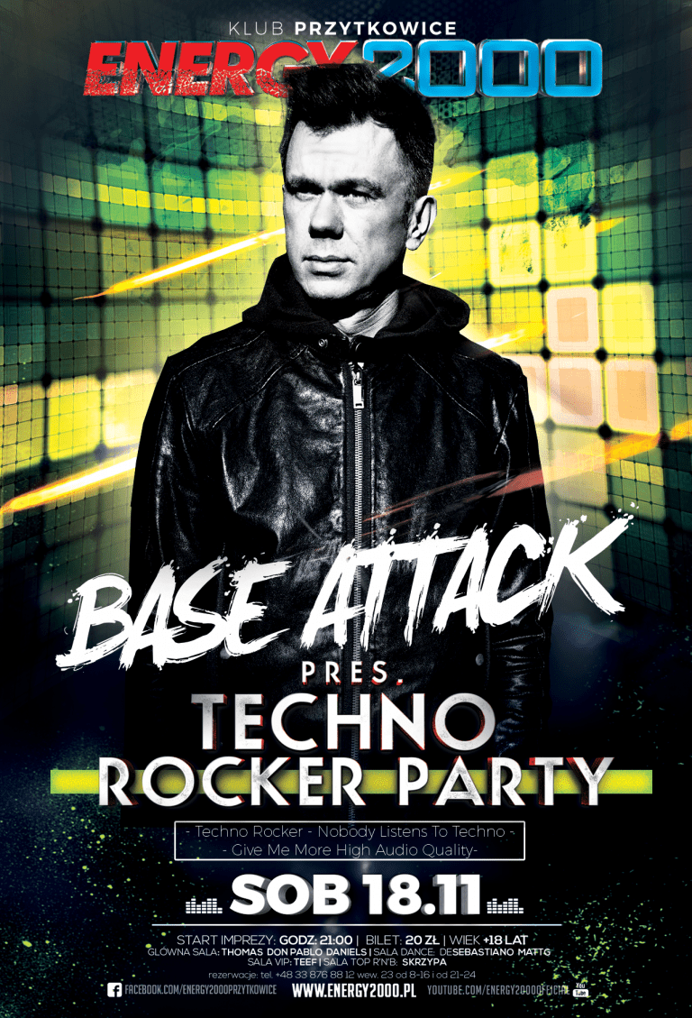 "BASE ATTACK pres. ""Techno Rocker"" Party"