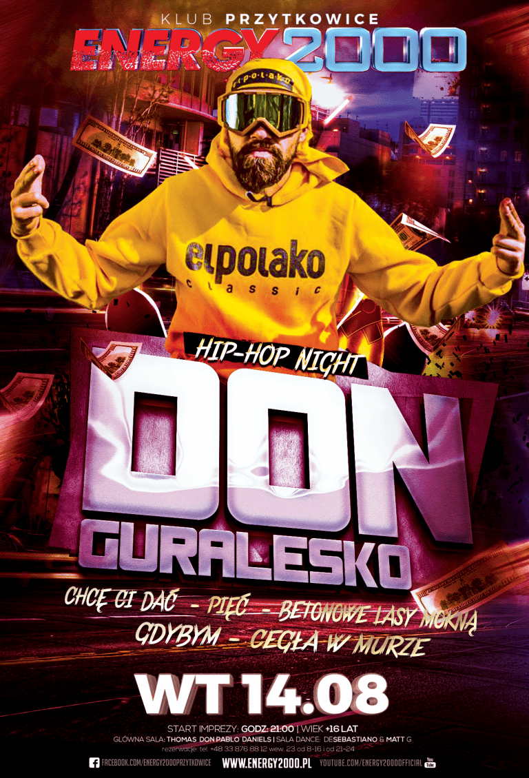 DONGURALESKO ★ WTOREK ★ HIP-HOP NIGHT