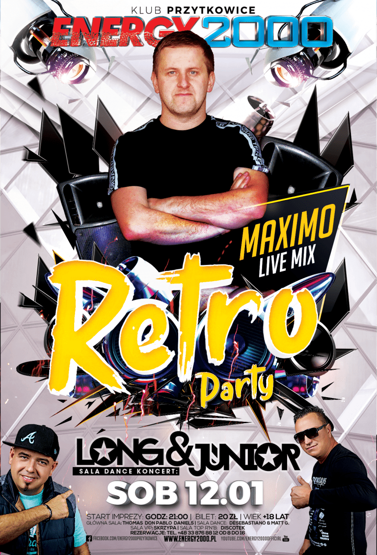 Retro Party ★ Dj Maximo ★ Sala Dance – Long & Junior