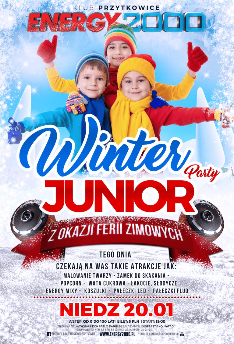 JUNIOR WINTER PARTY ★ NIEDZIELA ★FERIE ZIMOWE 2019