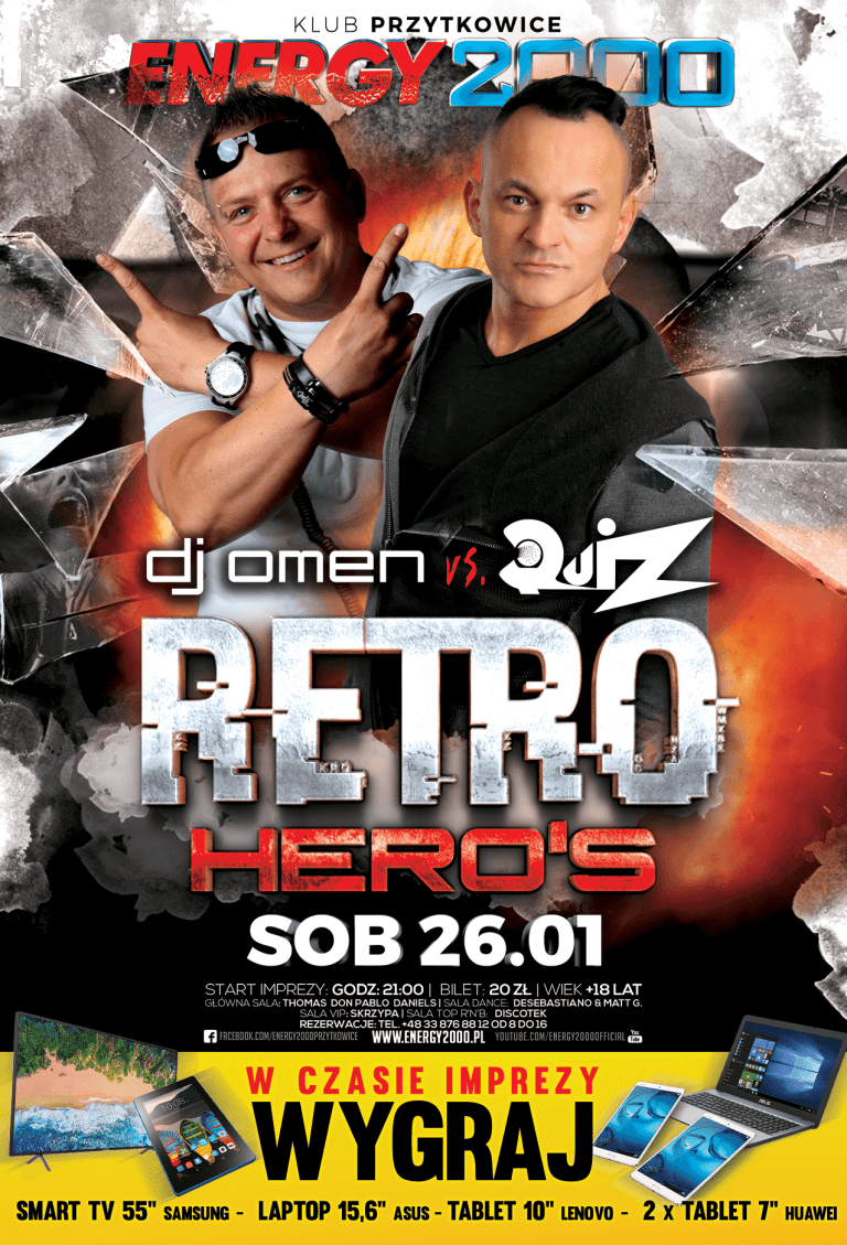 RETRO HERO'S ★ DJ OMEN & QUIZ