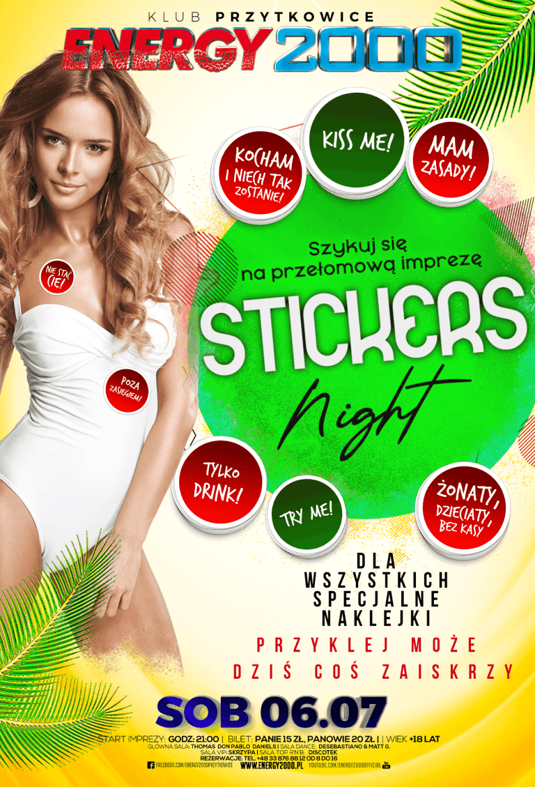 STICKERS NIGHT ★ Specjalne naklejki!