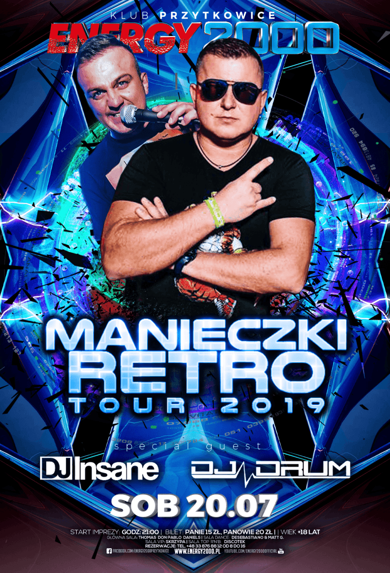 MANIECZKI RETRO TOUR ★ INSANE/ DRUM