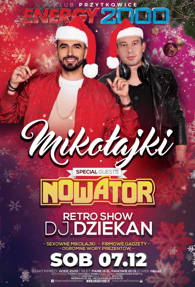 Mikołajki ★ DJ Dziekan RETRO SHOW ★ Nowator – sala DANCE