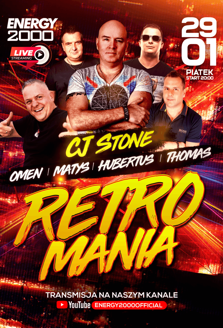 RETROMANIA LIVE STREAM ★ CJ STONE/ OMEN/ MATYS/ HUBERTUS/ THOMAS