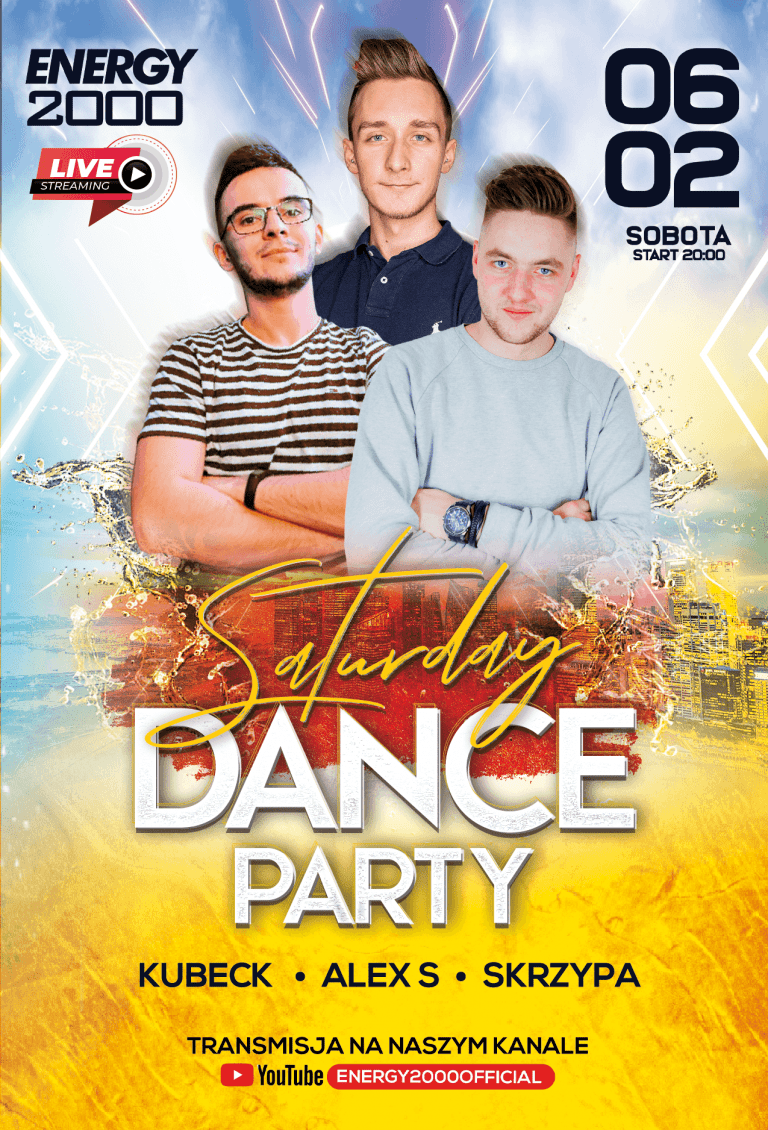 SATURDAY DANCE LIVE STREAM ★ KUBECK/ ALEX S/ SKRZYPA