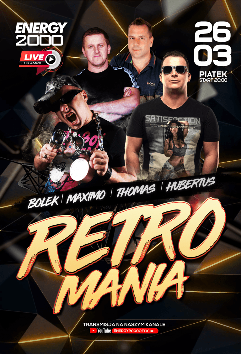 RETROMANIA LIVE ★ BOLEK/ MAXIMO/ THOMAS/ HUBERTUS